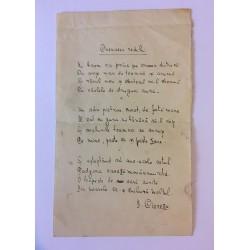 Manuscris poezie legionară...